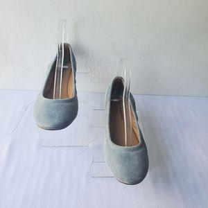 Lucky Brand Gray Lp-Erin Suede Ballet Flats in 8 M